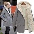 Descuento nuevo invierno con ropa gruesa de algodón acolchado escudo medio largo chaqueta de algodón acolchado para mantener caliente del invierno chaqueta