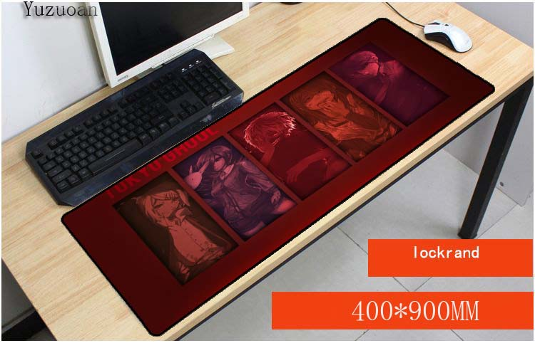 Yuzuoan Tokyo Ghoul <font><b>padmouse</b></font> <font><b>900x400X3mm</b></font> Anime notbook computer mousepad Popular gaming mouse pad gamer to laptop mouse mats image