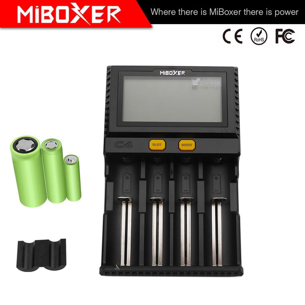 Image 2 - Atacado lcd inteligente carregador de bateria miboxer c4 para li  ion imr icr lifepo4 18650 14500 26650 21700 aaa baterias 100 800 mah  1.5aAcessórios portáteis de iluminação
