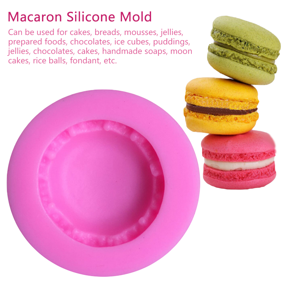 Kitchen Tools 1pc Macaroon Silicone Pastry Oven Baking Mould Sheet Mat 30-Cavity DIY Mold Baking