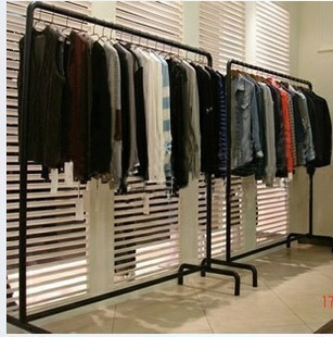 super bargain iron simple floor mall clothing store clothing racks garment rack shelf clothes. Black Bedroom Furniture Sets. Home Design Ideas