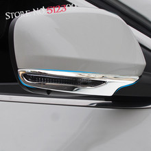 Chrome Trim Chromium Styling Car Rearview Mirror Stripe Decoration Moulding Trim For Renault Kadjar 2015 2016
