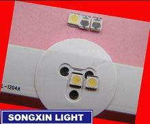 110 шт. оригинальный LG светодиодный ЖК-дисплей ТВ задняя светильник Ламповые бусины объектив 1 Вт 3В 3528 2835 холодный белый Светодиодный светиль...