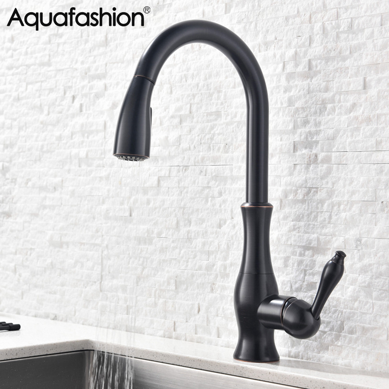 Black Kitchen Tap Cozinha Hot And Cold Kitchen Sink Faucet 360 Degree Swivle Spout Single Handle Kitchen Faucet