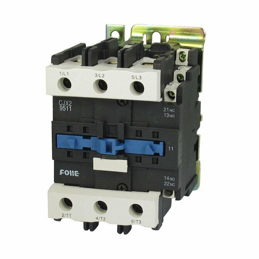 CJX2-9511 Alternating Current Contactor Silver point 380V 220V 110V 36V 24V Rated Coil Voltage 3 Phase 1NO+1NC