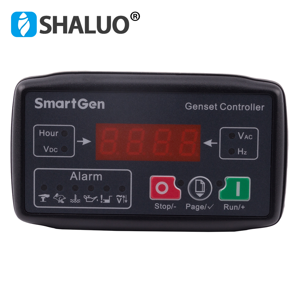 MGC100 small genset controller auto start protection module universal LED display controller board diesel generator partMGC100 small genset controller auto start protection module universal LED display controller board diesel generator part