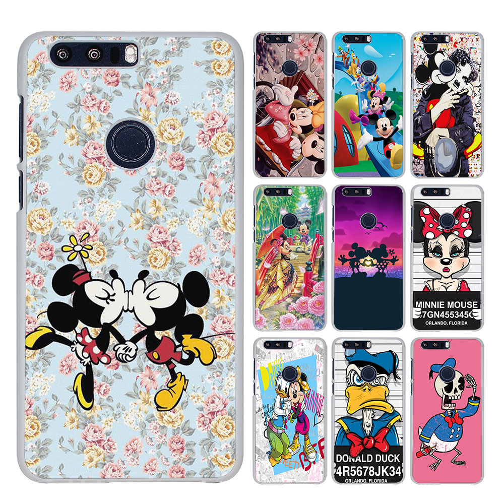 Cartoon Kissing Mickey Minnie Mouse style White phone shell Case for Huawei Honor 5X 4X 5C 4C FOR HONOR 7 8lite V8
