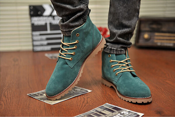 British Mens Casual Lace Suede Ankle Boots Shoes