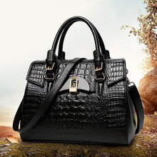 Women bag 100% Genuine leather bags handbags women famous brands luxury 2016 shoulder messenger bag dollar price black bag M241