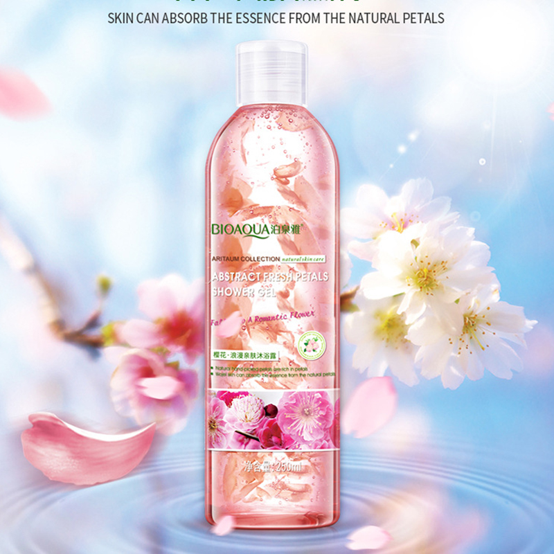Cherry Blossoms Floral Romantic Petal Shower Gel Body Lotion Moisturizing Lasting Osmanthus Jasmine Fragrance Soothing Skin Bath