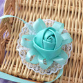2017 Hot Handmade Ribbon Flower Bride Bridesmaid Wrist Blue Wedding Creative Wedding Accessories
