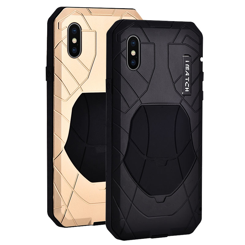 Étui pour Iphone X mince armure énergétique antichoc en alliage d'aluminium métal couverture de Protection robuste pour Iphone X 5.8