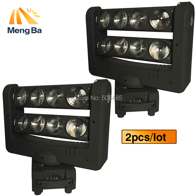 2pcs/lot Super 8x10w CREE RGBW 4-In-1 Beam Light DMX Spider Light Double-Deck Moving Head Light Stage DJ /Bar/Home/Wedding