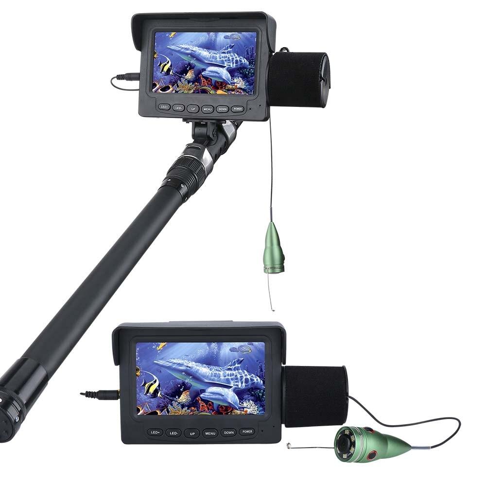 GAMWATER 30M 15M 1000TVL Fish Finder Underwater Fishing Camera 4 3 TFT Monitor 6PCS 1W IR