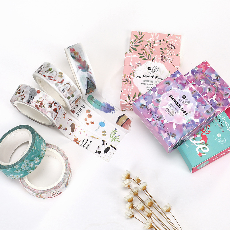 Masking-Tape Decorative Flower Scrapbooking Lotkawaii Office-Supply Food-Animals School
