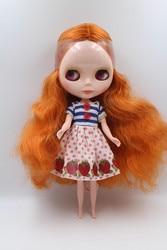 Cena specjalna lalki głębokie orange curl blugirl normalne ciało 7 wspólne Blyth doll dla lalek DIY skóra normalna cena specjalna