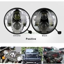 """대 한 Jeep 랭글러 7 inch Round Head lamp 7 """"Round H6014/H6024/H6017 6000 K 80 W 차 오프로드 LED Tru 프로젝터 7 """"전조등 Lamp"""