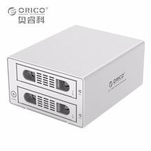 ORICO 3529RUS3 инструментов алюминий 2 bay 3.5 «SATA2.0 USB3.0 & ESATA HDD Внешний док-станции RAID функция 2bay hdd случае