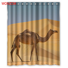WONZOM 1Pcs Camel Waterproof Shower Curtain Deer Bathroom Decor Lion Decoration Animal Cortina De Bano 2017 Bath Curtain Gift
