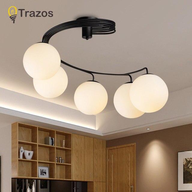 Moderne Kurze Led Deckenleuchte Kreative Schwarz Decke Lampe Vintage