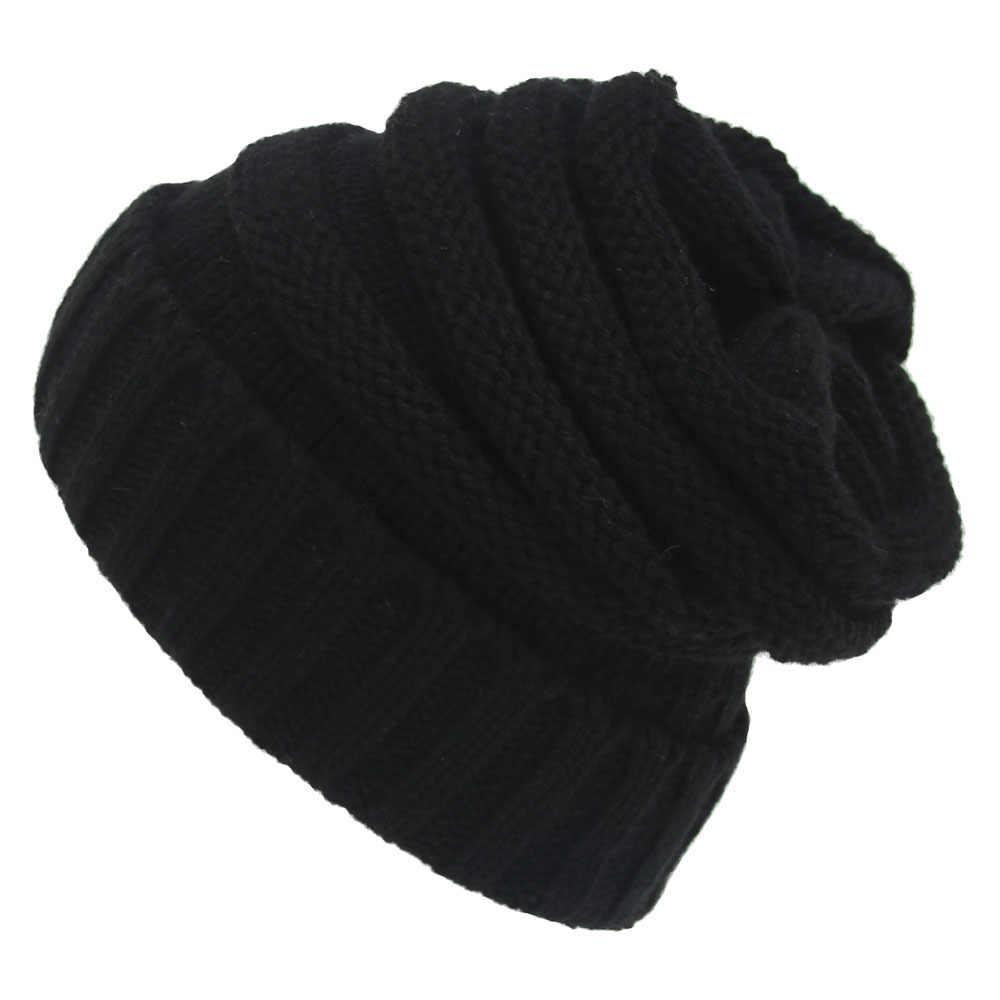 99b59e39174 Unisex Warm hat Women s Warm Chunky Thick Stretchy Knit Beanie Skull Cap  Winter Knitting Warm Hat