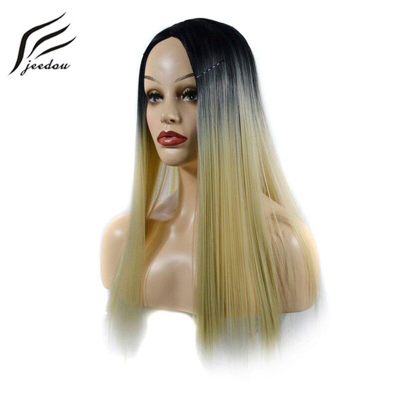 Haarverlängerung Und Perücken UnabhäNgig Aigemei Spitze Vorne Perücke Lange Verworrene Gerade Synthetische Haar Glueless Kostenloser Teil Spitze Perücken Hitze Beständig Faser 24 Zoll