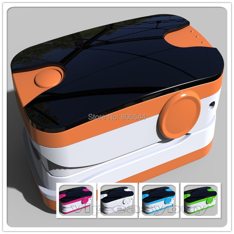 Health Care CE&FDA KW-6L fingertip pulse oximeter Orange OLED Blood Oxygen SPO2 PR Saturation Oximetro Monitor 5A+