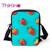 Thikin Cute Fruit Strawberry Shoulder Messenger Bag Cool Summer Crossbody for Girls Phone Shopping Bags Mochila Infantil