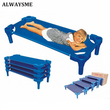 ALWAYSME Baby Kids Children Bed Crib Streamline Toddler Cot Daycare Sleeping Cot for Kids Kindergarten Bed Co Sleeping Bed(China)