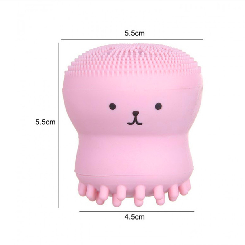 Beauty Face Skin Care Cleaning Tools Cute Octopus Jellyfish Facial Cleansing Brush Facial Puff Massage Exfoliating Wash Tools