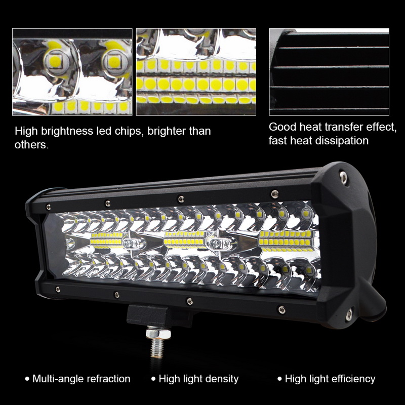 Image 2 - Safego 7 inch 120W offroad led light bar 5 9 12 17 20 inch 84W 180W 240W 360W 384 led Work Light  Car 4WD Truck 4x4 SUV ATV 12V-in Light Bar/Work Light from Automobiles & Motorcycles