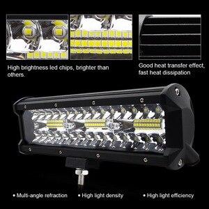 Image 2 - Safego 7 zoll 120W offroad led licht bar 5 9 12 17 20 zoll 84W 240W 360W 384 led Arbeit Licht Auto 4WD Lkw 4x4 SUV ATV 12V