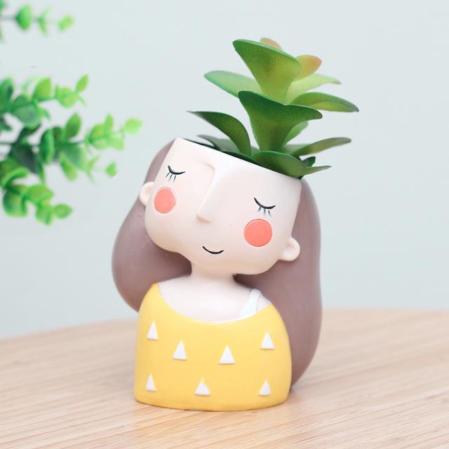 Dreamy girl flower pots