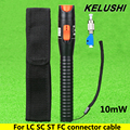 KELUSHI 10mW Plastic Pen Type Fiber Optic Visual Fault Locator Red Laser Cable Tester Pen with LC/FC/SC/ST Adapter for CATV/FTTH