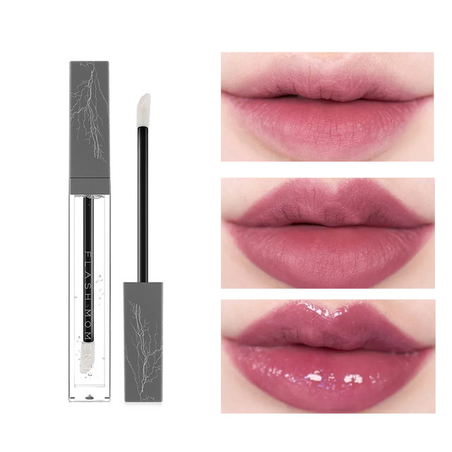 2018 nuevo maquillaje claro Llipgloss impermeable de larga duración grandes labios humectante brillo de labios de lujo maquillaje transparente