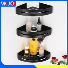 Bathroom Shelf Black Aluminum Corner Storage Holder Shelves Bathroom Accessories Shower Caddy Rack Wall Mounted Shampoo Basket стоимость