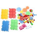 81 unids niños de plástico bloques de construcción de juguetes diy montaje de juguetes clásicos juguetes educativos de aprendizaje temprano