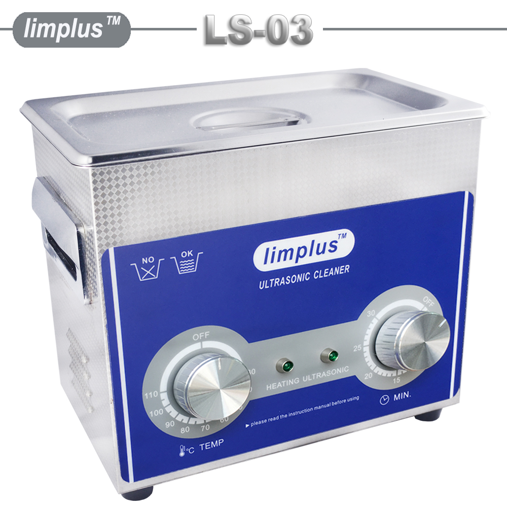 Free Shipping Limplus 3L Ultrasonic Cleaner Bath Powerful Ultrasonic Transducer Cleaning Coins Lenses Jewellery Glasses Machine