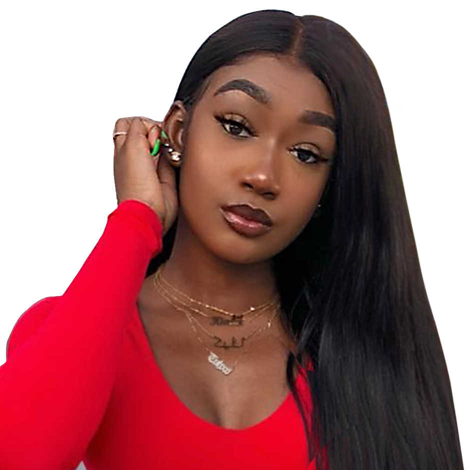 Прямые парики на шнурках для черных женщин 13X4 Remy бразильские человеческие волосы парики 150% плотность ISEE волосы на кружеве человеческие волосы парики