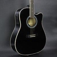 DIDUO 41 Inç Halk Gitar Akustik Gitar Basswood Gitar Mükemmel Kalite Ve Ucuz Fiyat SIYAH