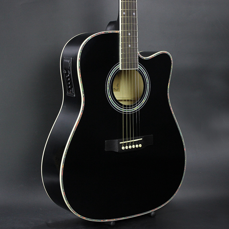DIDUO 41 Inch Folk Guitar Acoustic Guitar Basswood Guitar Excellent Quality And Cheap Price BLACK 30 34 36 inch novice guitar beginner folk guitar six chord little guitar