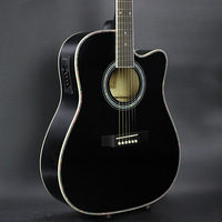 DIDUO 41 Inch Folk Guitar Acoustic Guitar Basswood Guitar Excellent Quality And Cheap Price BLACK