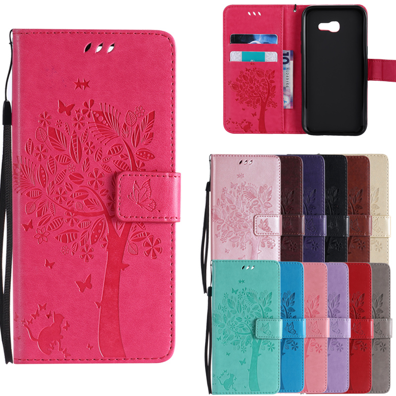 f85f55feec7 Cat Tree PU Leather Wallet Flip Case For Samsung Galaxy J1 J2 J3 J5 J7 2015  2016