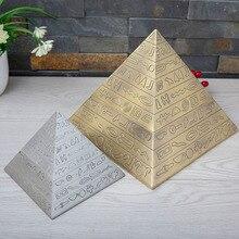 Cenicero de Metal con forma de pirámide egipcia de 2 tamaños, decoración Vintage para el hogar, artesanía egipcia, regalo de novio para hombres, Decoración de mesa de habitación