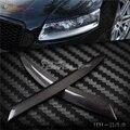 Реальные Углеродного Волокна Фар Веки Бровей обложка отделка 2 шт., Пригодный Для Audi A6 C6 4F 2004 ~ 2011