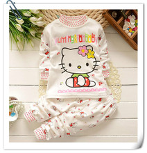 Autumn Baby Boy Girl Clothes Long Sleeve Top + Pants 2pcs Sport Suit Baby Clothing Set Newborn Infant hello kitty Clothing Bebe