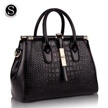 Senkey Style 2017 Echtem Leder Alligator Luxus Handtaschen Frauen Tasche Designer Frauen Messenger Bags Handtaschen Frauen Berühmte Marken