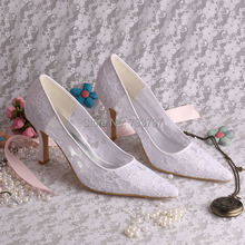 Обувь Женщина Мода Кружева С Острым Носом Насосы Сексуальные Высокие Каблуки Шип Обувь Свадьбы