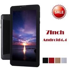 Надежный 7 дюймов HD Dual SIM Камера 3 Г Dual Core Tablet PC Android 4.4 512 МБ + 8 ГБ Bluetooth