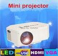 2015 последним Родной 640x480 Поддержка 1080 P HDMI Мини СВЕТОДИОДНЫЙ Цифровой Проектор Для Домашнего Кинотеатра С HDMI AV IN/USB/SD Портов